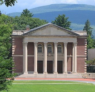College - Chapin Hall at Williams College in Williamstown, United States, one of the oldest liberal arts colleges.