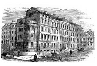 Charing Cross Hospital Medical School - Charing Cross Hospital and Medical School in 1881, in Charing Cross