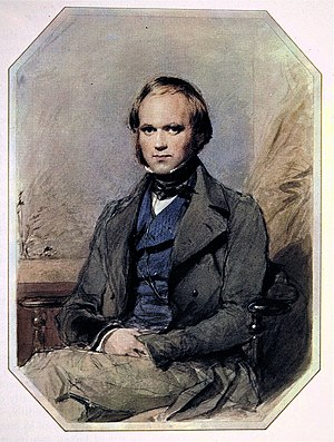 Charles Darwin as a young man, probably subseq...