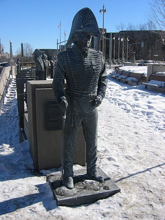 Charles de Salaberry - Statue of Charles-Michel d'Irumberry de Salaberry at the Valiants Memorial, in Ottawa