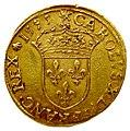 Charles X ligue piéfort écu au soleil 1595 avers.jpg