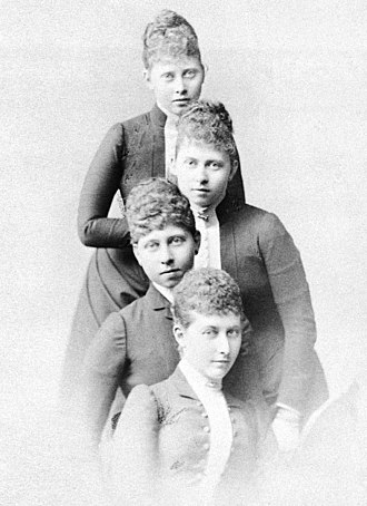 Princess Charlotte of Prussia - From top to bottom: Margaret, Sophia, Victoria and Charlotte