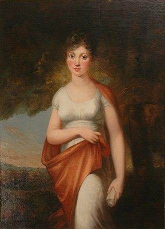Duchess Charlotte Frederica of Mecklenburg-Schwerin - Painting by Breda