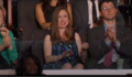Chelsea Clinton watching her father's speech at the 2016 DNC (a).png