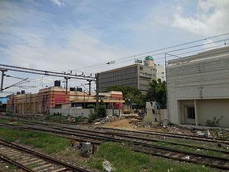 Chennai Beach railway station - Main entrance of Chennai Beach railway station