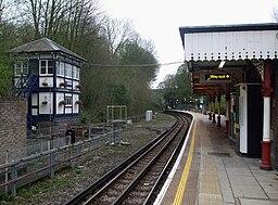 Chesham station look south