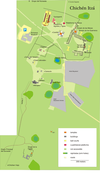 File:Chichen Itza Plan EN.png
