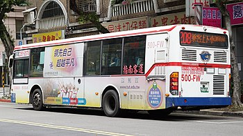 Chih-Nan Bus 500-FW left side on Linsen North Road 20210228.jpg