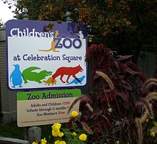 Children's Zoo at Celebration Square entrance sign (4331111426).jpg