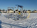 Childrens' playpark in the snow - geograph.org.uk - 1650997.jpg