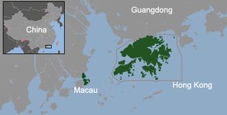 Hong Kong–Macau relations - Location of Hong Kong and Macau