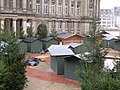 Christmas trees in Chamberlain Square - in the rain (4117586063).jpg