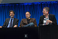 Chuck Lorre, Steven Molaro and Bill Prady at PaleyFest 2013.jpg