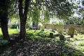 Church of St Mary, High Easter, Essex, England - graveyard graves at west 02.jpg