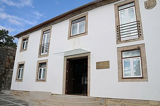 Melgaço Museum of Cinema - The simple front facade of the fiscal guard output, and modern museum of cinema