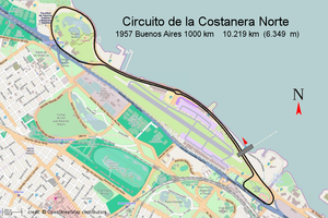 1000 km Buenos Aires - Circuit Costanera Norte - Buenos Aires 1000 km (1957)