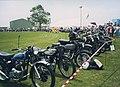 Classic motorcycles at Dunsfold aerodrome - geograph.org.uk - 1434816.jpg