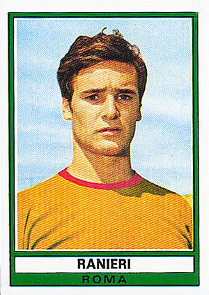 Claudio Ranieri - Ranieri with Roma, pictured on a football sticker from 1973