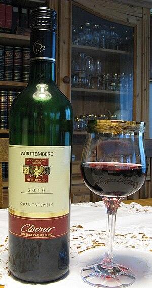 Pinot Noir Précoce - German Clevner wine from Württemberg made from Pinot Noir Précoce.