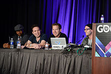 Cliffy B and Boss Key at GDC 2016 (25846174186).jpg