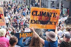 Climate emergency - Melbourne -MarchforScience on -Earthday (33366528414).jpg