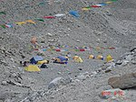 Climbers' tents at Mt. Everest Base Camp, Tibet.jpg