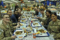Coalition forces service members and civilian contractors have Thanksgiving dinner at the dining facility at the International Security Assistance Force headquarters in Kabul, Afghanistan, Nov. 28, 2013 131128-A-UO630-003.jpg