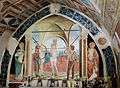 Wandmalerei in der Kapelle St-Sébastien in Coaraze