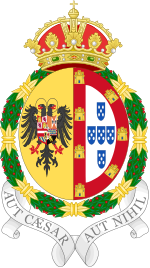 Coat of Arms of Isabella of Portugal, Holy Roman Empress and Queen Consort of Spain.svg