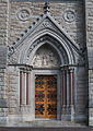 Cobh St. Colman's Cathedral West Façade Right Portal 2015 08 27.jpg