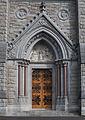 Cobh St. Colman's Cathedral West Façade Right Portal 2015 08 27.jpg