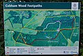 Cobham Wood Footpaths Sign - geograph.org.uk - 1137905.jpg
