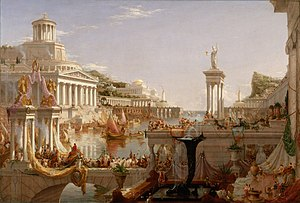 The Course of Empire (paintings) - Image: Cole Thomas The Consummation The Course of the Empire 1836
