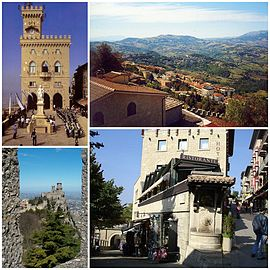 A collage of the City of San Marino.
