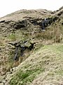 Collapsing footpath below Scout Moor - geograph.org.uk - 369613.jpg