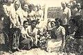 Collectie NMvWereldculturen, 7082-nf-1373-21-6, Foto- Indonesische mensen voor een bord met een tekst over de Proklamasi, 1950.jpg