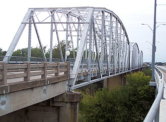 Colorado River Bridge at Bastrop - Image: Colorado river bridge at bastrop 2006