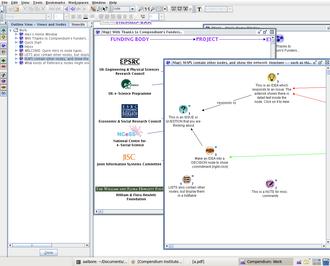 Compendium (software) - Image: Compendium.v 1.5.2 Screenshot