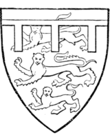 Fig. 711.—Thomas of Brotherton, Earl of Norfolk, second son of Edward I.: Arms of England, a label of three points argent.
