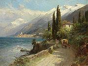 Compton, 1913, Malcesine am Gardasee mit Monte Baldo