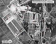 Concentration camp dachau aerial view