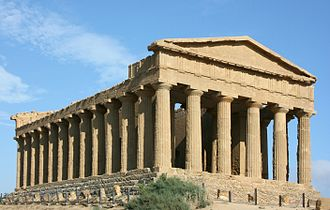 History of architecture - Temple of Concordia in Agrigento, Sicily.