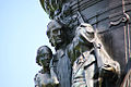 Confederate Monument - NW frieze detail family faces - Arlington National Cemetery - 2011.JPG
