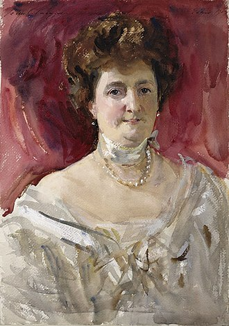 Duke of Manchester - Consuelo Montagu, Duchess of Manchester, wife of the 8th Duke. By John Singer Sargent.