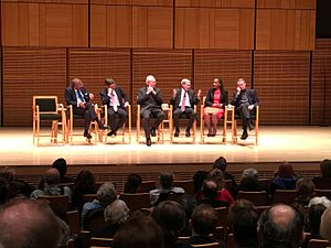 Walter LaFeber - LaFeber (third from left) at a 2016 panel session discussing the influence of Cornell University on American foreign policy
