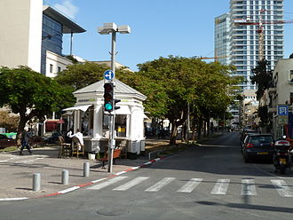 Rothschild Boulevard - Corner of Rothschild Boulevard and Herzl Street