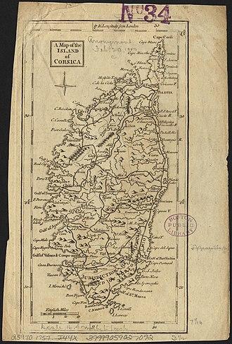 Corsican Republic - Corsica in 1757