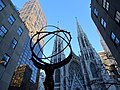 Courtyard of Rockefeller Center with St. Patrick's Cathedral - Midtown - Manhattan - New York City - USA (24405787353).jpg