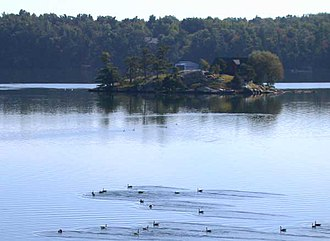 Wellesley Island - View of Dukeman's Island, located in the middle of Wellesley Island's interior Lake of the Isles