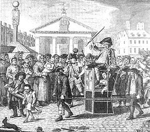 Betty Careless - The sleeping Betty is carried home in a sedan chair after a night of revelling in Boitard's 1739 The Covent Garden Morning Frolick.